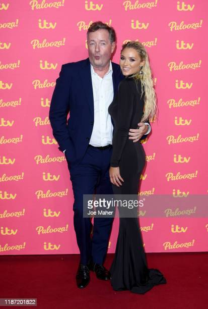 Piers Morgan and Lucie Donlan attend the ITV Palooza 2019 at The Royal Festival Hall on November 12, 2019 in London, England.