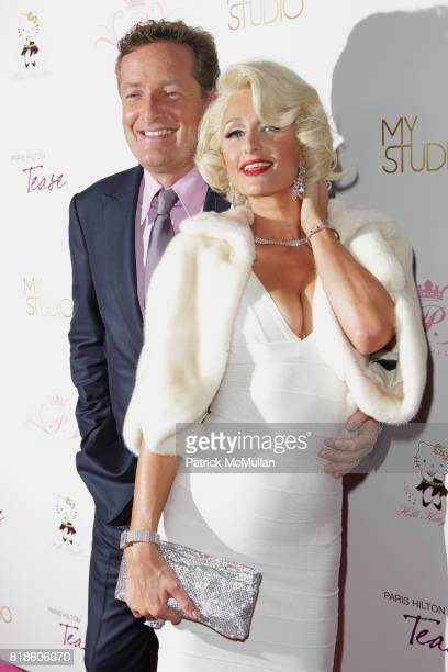 Piers Morgan and Paris Hilton attend Paris Hilton Embodies Icon Marilyn Monroe To Celebrate Her Fragrance Launch TEASE at MyStudio on August 10 2010...