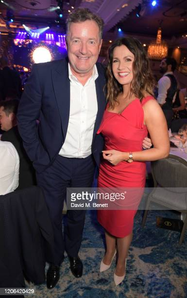 Piers Morgan and Susanna Reid arrive at the TRIC Awards 2020 at The Grosvenor House Hotel on March 10, 2020 in London, England.