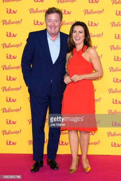 Piers Morgan and Susanna Reid attend the ITV Palooza! held at The Royal Festival Hall on October 16, 2018 in London, England.