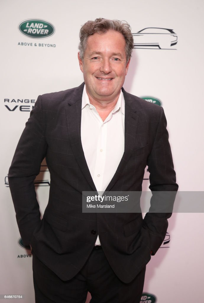 Piers Morgan arrives at the launch of the New Range Rover Velar on March 1, 2017 in London, United Kingdom.