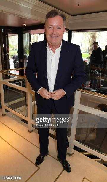 Piers Morgan arrives at the TRIC Awards 2020 at The Grosvenor House Hotel on March 10, 2020 in London, England.