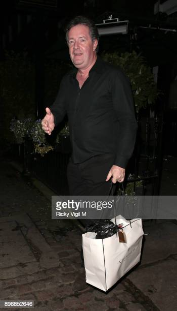 Piers Morgan at his Christmas party at Scarsdale Tavern on December 21 2017 in London England