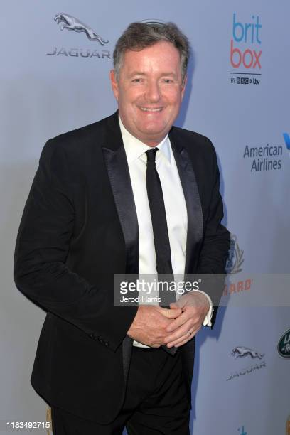Piers Morgan attends 2019 British Academy Britannia Awards presented by American Airlines and Jaguar Land Rover at The Beverly Hilton Hotel on...