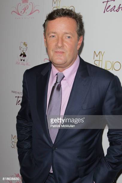 Piers Morgan attends Paris Hilton Embodies Icon Marilyn Monroe To Celebrate Her Fragrance Launch TEASE at MyStudio on August 10 2010 in Los Angeles CA