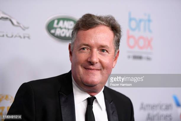 Piers Morgan attends the 2019 British Academy Britannia Awards presented by American Airlines and Jaguar Land Rover at The Beverly Hilton Hotel on...