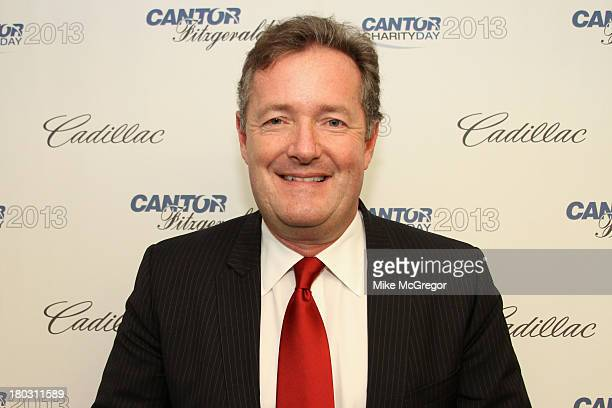 Piers Morgan attends the Annual Charity Day Hosted By Cantor Fitzgerald And BGC at the Cantor Fitzgerald Office on September 11, 2013 in New York,...