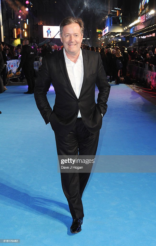 Piers Morgan attends the European premiere of 'Eddie The Eagle' at Odeon Leicester Square on March 17, 2016 in London, England.