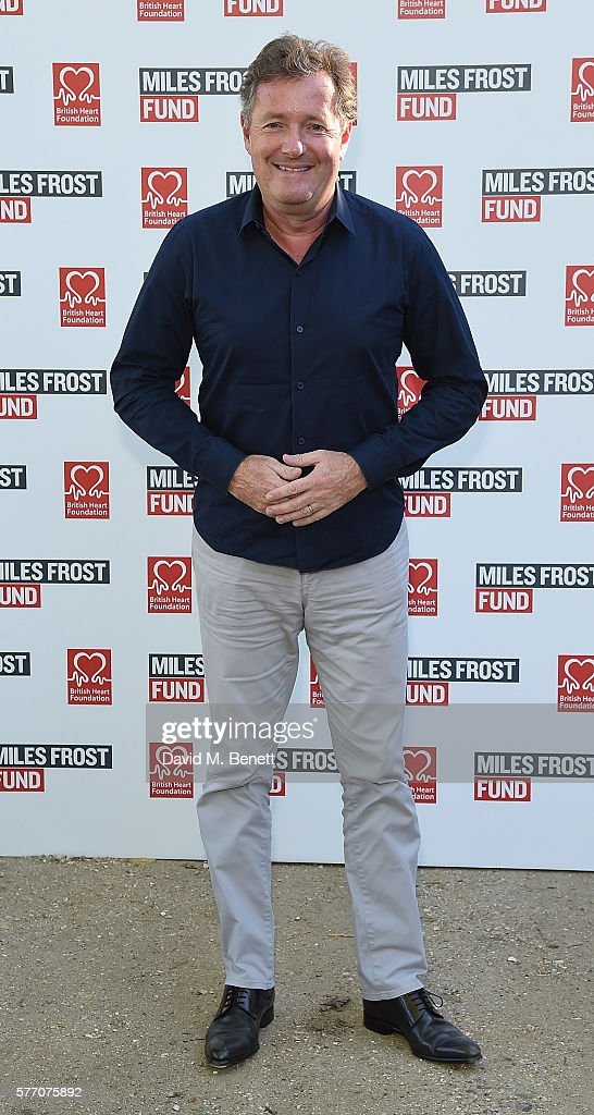 Piers Morgan attends The Frost family final Summer Party to raise money for the Miles Frost Fund in partnership with the British Heart Foundation on July 18, 2016 in London, England.