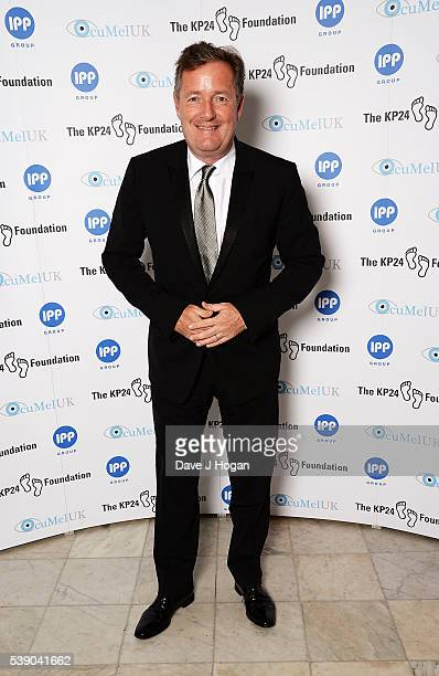 Piers Morgan attends The KP24 Foundation Charity Gala Dinner at The Waldorf Hilton Hotel on June 9 2016 in London England