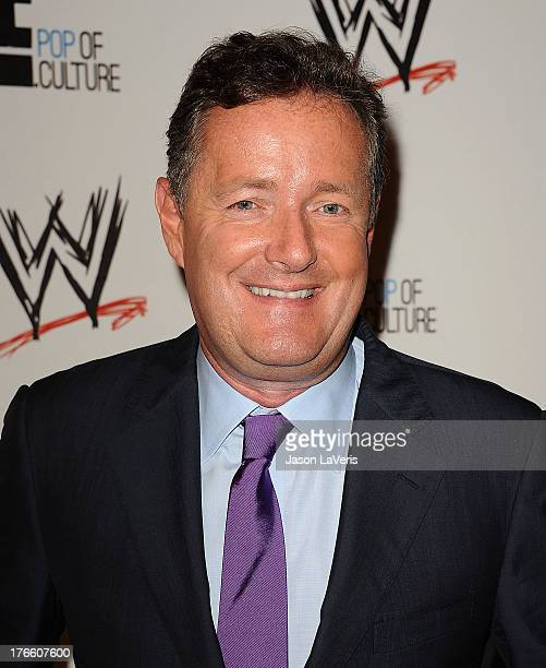 Piers Morgan attends the WWE SummerSlam VIP party at Beverly Hills Hotel on August 15 2013 in Beverly Hills California