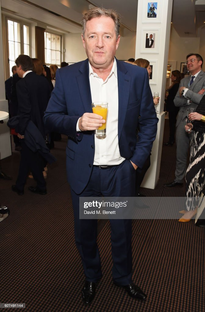 Piers Morgan attends Turn The Tables 2018 hosted by Tania Bryer and James Landale in aid of Cancer Research UK at BAFTA on March 5, 2018 in London, England.