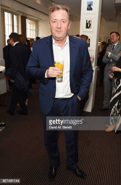Piers Morgan attends Turn The Tables 2018 hosted by Tania Bryer and James Landale in aid of Cancer Research UK at BAFTA on March 5 2018 in London...