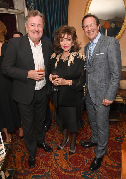 GBR: Dame Joan Collins Book Launch At Mark's Club, Mayfair