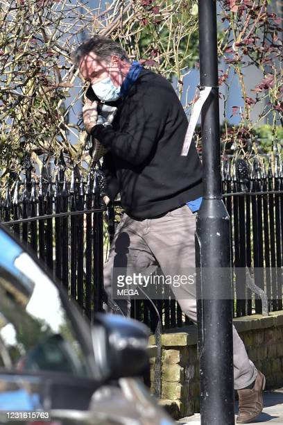 """Piers Morgan is seen in Kensington after leaving """"Good Morning Britain"""" on March 9, 2021 in London, England."""
