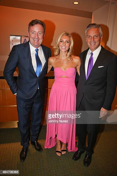 Piers Morgan, Mary Anne Huntsman and Jon Huntsman Jr. Attend at Carnegie Hall on January 23, 2014 in New York City.