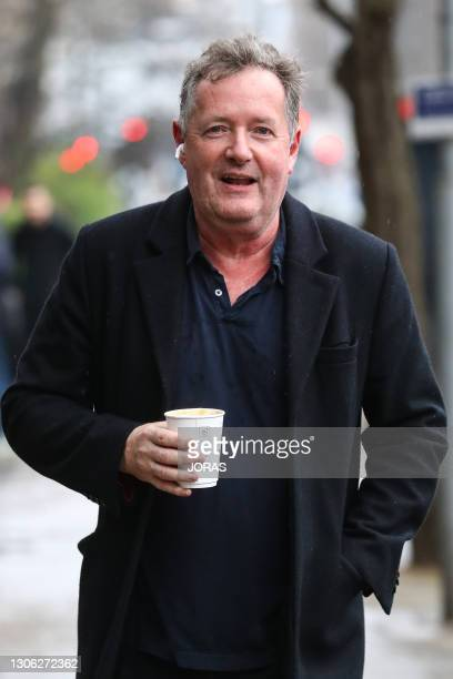 Piers Morgan seen returning to his West London home on March 10, 2021 in London, England.
