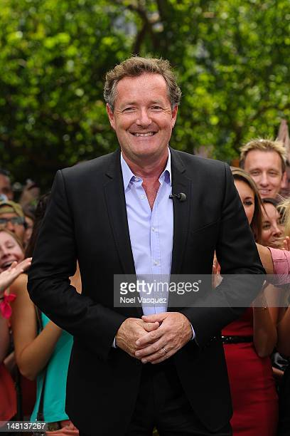 Piers Morgan visits 'Extra' at The Grove on July 10 2012 in Los Angeles California