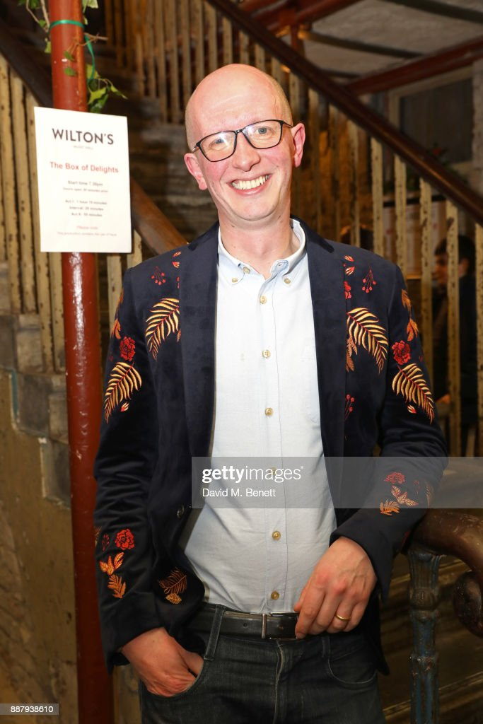 Piers Torday attends a drinks reception during the press night performance of 'The Box Of Delights' at Wilton's Music Hall on December 7, 2017 in London, England.