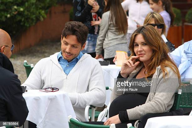 Piersilvio Berluconi and his girlfirend pregnant Silvia Toffanin on May 1, 2010 in Portofino, Italy.
