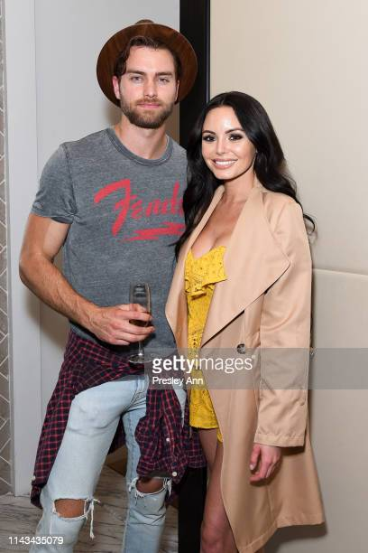 Pierson Fode and Emelina Adams attend launch event for Whyte Studio's Festival Capsule Collection at Top Shop at the Grove on April 17 2019 in Los...