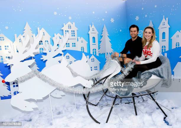 Pierson Fode and Greer Grammer attend Instagram's #Instaskate 2018 at LA Kings Holiday Ice LA Live on November 27 2018 in Los Angeles California