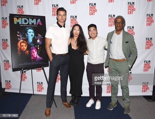 Pierson Fode Angie Wang Scott Keiji Takeda and Elvis Mitchell attend Film Independent presents special screening of 'MDMA' at The WGA Theater on...