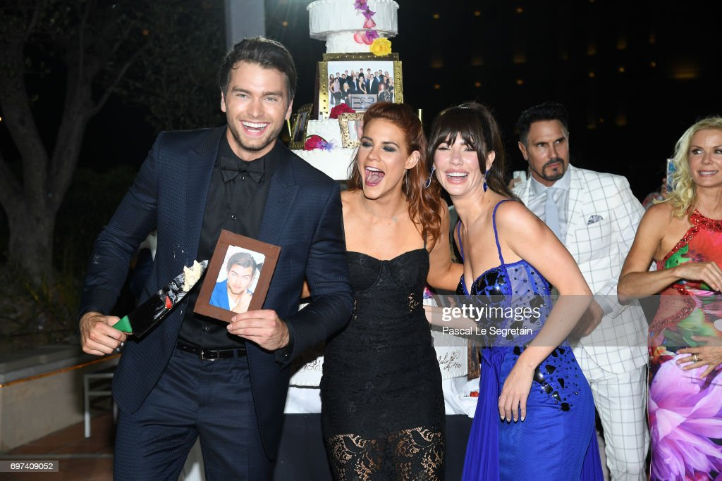 Pierson Fode,Courtney Hope and Jacquelines MacInnes Wood attend the 'The Bold and The Beautiful' 30th Years anniversary during the 57th Monte Carlo TV Festival : Day 3 on June 18, 2017 in Monte-Carlo, Monaco.