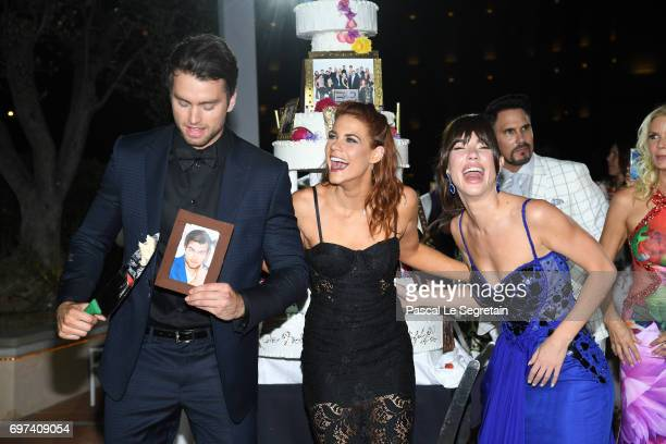Pierson FodeCourtney Hope and Jacquelines MacInnes Wood attend the 'The Bold and The Beautiful' 30th Years anniversary during the 57th Monte Carlo TV...