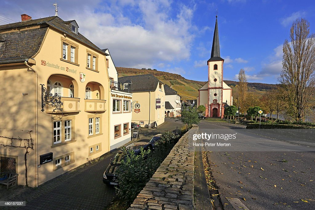 Piesport, Moselle Valley, Germany : ストックフォト