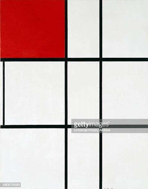 Piet Mondrian 'Composition B with Red' Mondrian was a Dutch painter