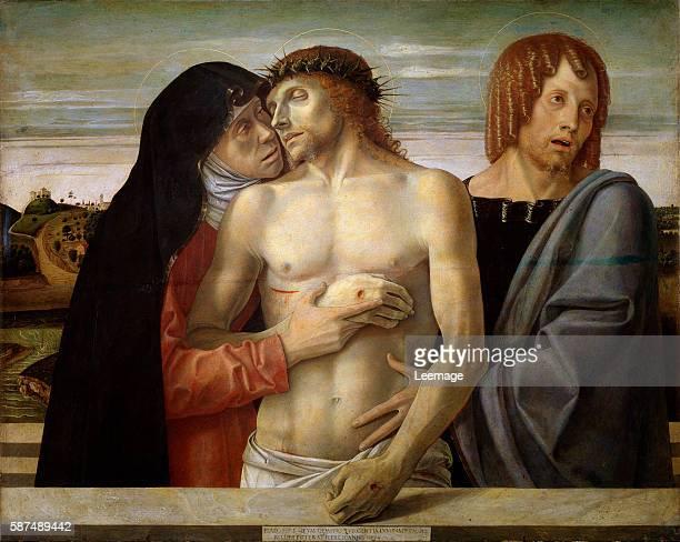 Pieta by Giovanni Bellini oil on panel - Pinacoteca di Brera, Milan, Italy