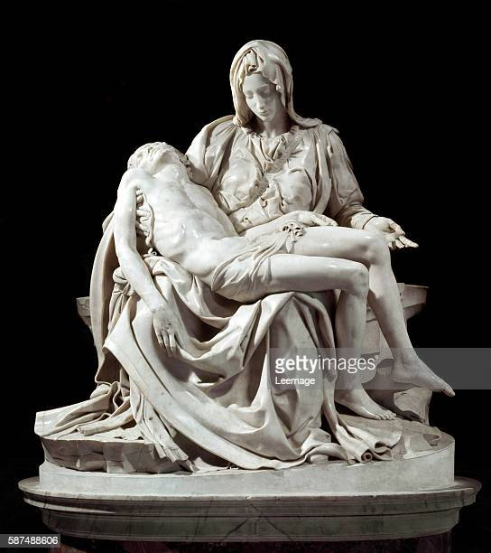 Pieta Marble sculpture by Michelangelo Buonarroti ca 14981500 St Peter's Vatican City