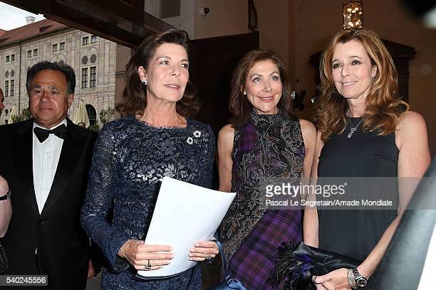 Pieter Bogaardt Princess Caroline of Hanover Alexandra Von Rehlingen and Andrea Schoeller attend the AMADE Deutschland Charity dinner on June 14 2016...