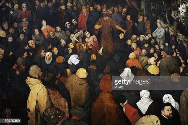Pieter Brueghel the Elder Flemish painter The Sermon of Saint John the Baptist Detail Museum of Fine Arts Budapest Hungary