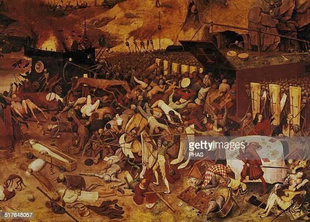 Pieter Brueghel the Elder Flemish painter The Triumph of Death c1562 Detail of lower left Prado Museum Madrid Spain