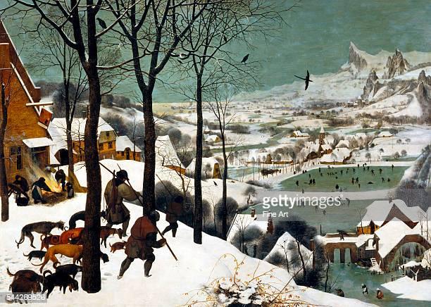 Pieter Brueghel the Elder Hunters in the Snow oil on panel 117 x 162 cm Kunsthistorisches Museum Vienna