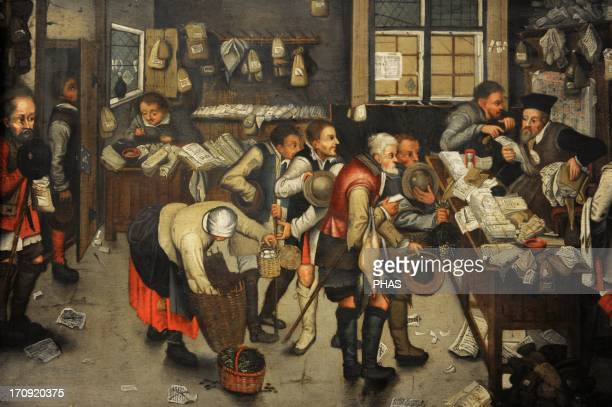 Pieter Brueghel the Younger Flemish painter The Collector's Office after 1615 German Historical Museum Berlin Germany
