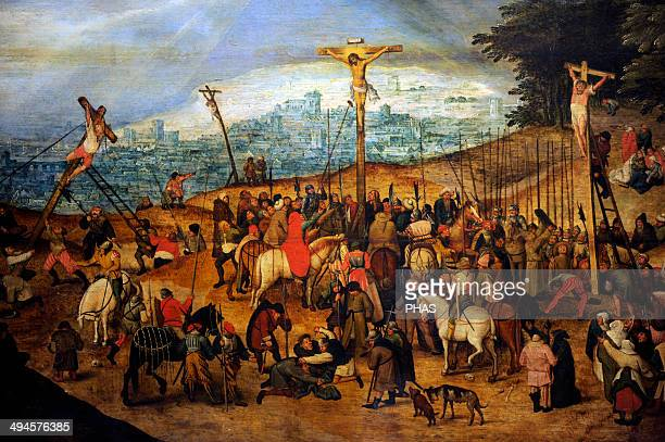 Pieter Brueghel the Younger . Flemish painter. The Crucifixion or The Calvary, 1617. Museum of Fine Arts. Budapest. Hungary.