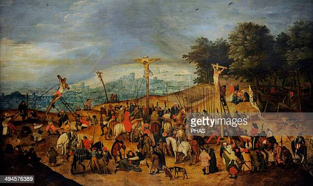 Pieter Brueghel the Younger Flemish painter The Crucifixion or The Calvary 1617 Museum of Fine Arts Budapest Hungary