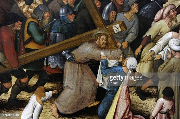 Pieter Brueghel the Younger Flemish painter The Procession to Calvary 1602 Detail National Museum of Art Copenhagen Denmark