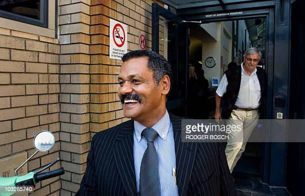 Pieter de Villiers, coach of the South African national rugby team the Springboks, leaves the SARU head office on August 6, 2010 in Cape Town, after...