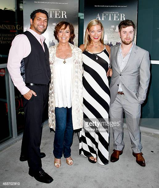Pieter Gaspersz Kathleen Quinlan Sabrina Gennarino and Adam Scarimbolo attend the premiere of 'After' at Laemmle NoHo 7 on August 15 2014 in North...