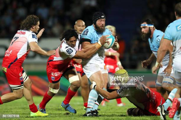 Pieter Jan Van Lill of Bayonne during the French Pro D2 match between Aviron Bayonnais and Grenoble on September 21 2017 in Bayonne France
