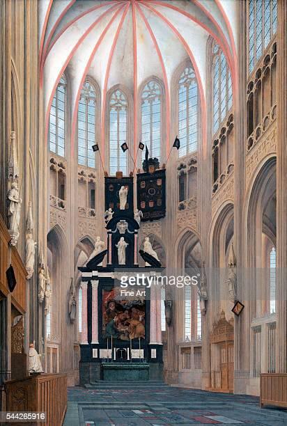 Pieter Jansz Saenredam Cathedral of Saint John at 'sHertogenbosch oil on panel 1289 x 87 cm National Gallery Washington DC