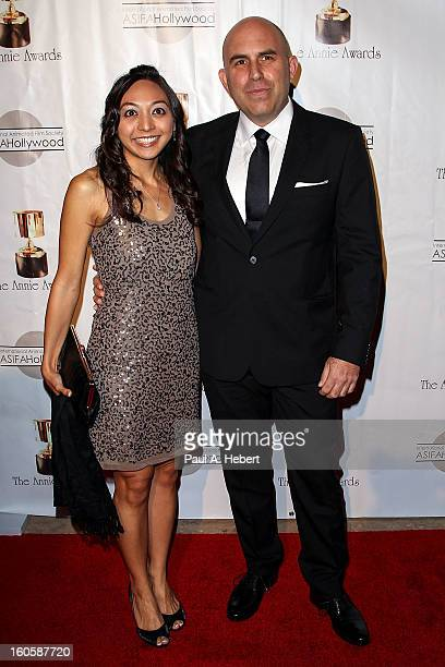Pieter Kaufman and guest arrive at the 40th Annual Annie Awards held at Royce Hall on the UCLA Campus on February 2 2013 in Westwood California