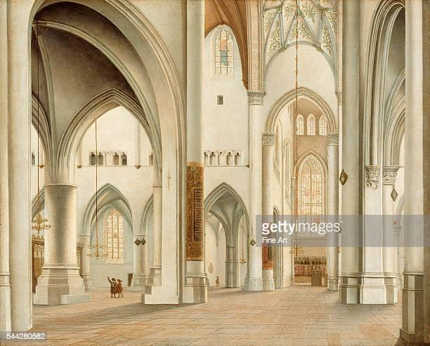 Pieter Saenredam , Interior of St. Bavo Cathedral, Haarlem oil on panel, 38.7 x 47.6 cm , The J. Paul Getty Museum, Malibu, California.