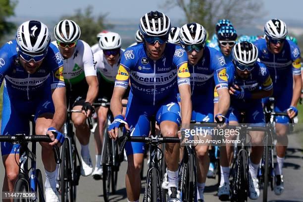 Pieter Serry of Belgium and Team Deceuninck QuickStep / Enric Mas of Spain and Team Deceuninck QuickStep / Petr Vakoc of Czech Republic and Team...