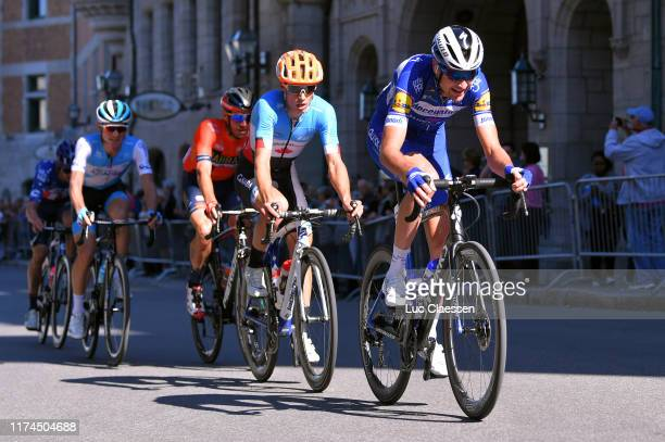 Pieter Serry of Belgium and Team Deceuninck Quick-Step / Nick Zukowsky of Canada and ƒquipe Nationale of Canada / Damiano Caruso of Italy and Team...