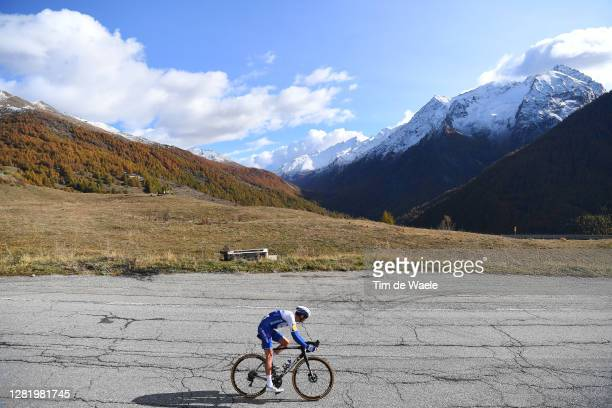 Pieter Serry of Belgium and Team Deceuninck - Quick-Step / Sestriere / Landscape / Mountains / during the 103rd Giro d'Italia 2020, Stage 20 a 190km...